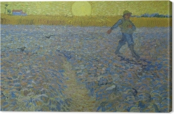 Quadro em Tela Vincent van Gogh - Semeador em Sunset
