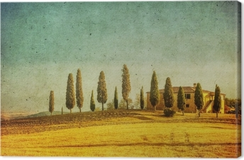 Quadro em Tela vintage tuscan landscape