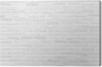 Quadro em Tela White grunge brick wall texture background
