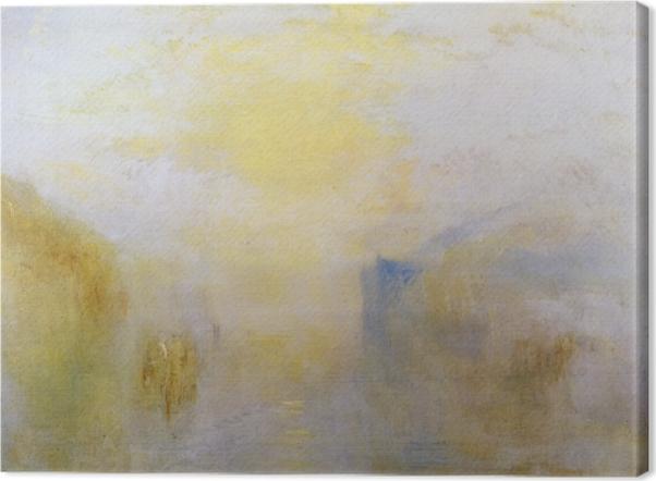 Quadro em Tela William Turner - Nascer do sol, com um barco entre Headlands - Reproduções