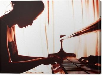 Quadro em Tela woman playing piano