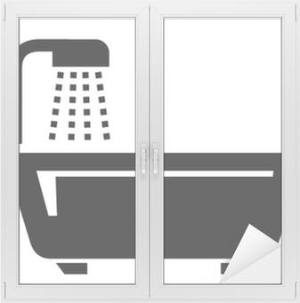 Fotobehang Badkamer pictogrammen • Pixers® - We leven om te veranderen