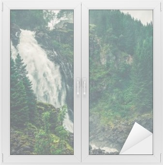 Raamsticker Scenic Noorse Waterval