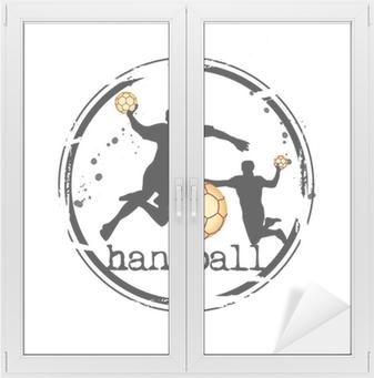 Raamsticker Timbre handbal