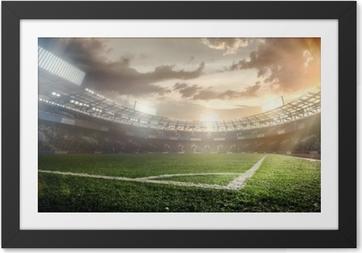 Rámovaný obraz Sportovní zázemí. fotbalový stadion.