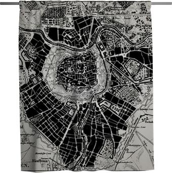 Rideau de douche Carte historique de Vienne, en Autriche.