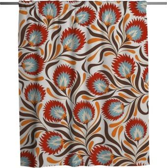Rideau de douche Floral pattern