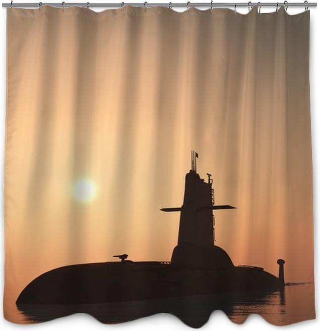 Rideau de douche Le navire militaire • Pixers® - Nous vivons pour ...