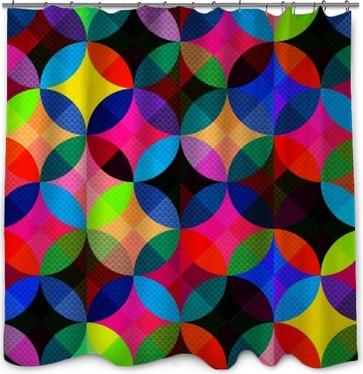 Lumineux abstrait géométrique seamless Rideau de douche