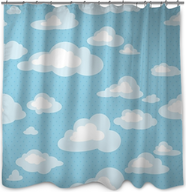 Rideau de douche Modèle sans couture avec des nuages • Pixers ...