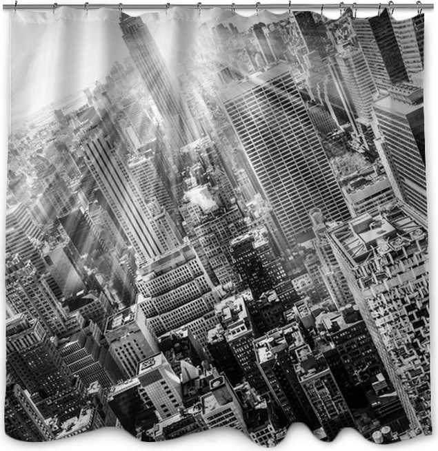 Rideau de douche New York City Manhattan skyline in sunset. • Pixers ...
