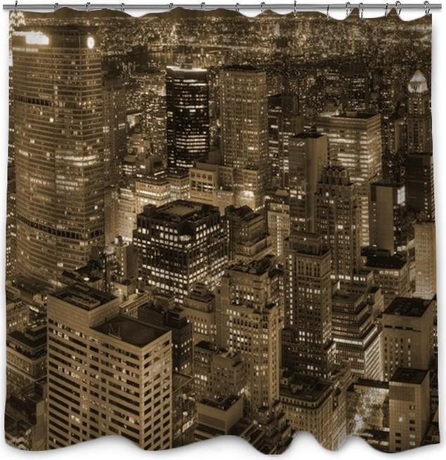 Rideau de douche New York - vue de nuit • Pixers® - Nous vivons pour ...