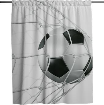 Rideau de douche Soccerball in net