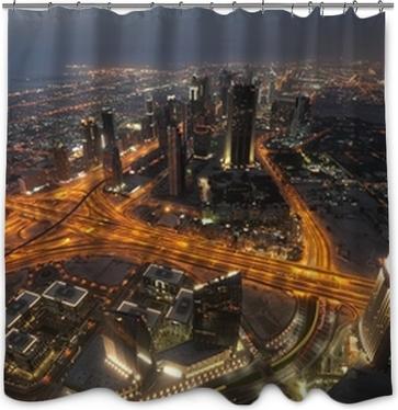Papier peint Vue de nuit de Dubaï de Burj Khalifa. Émirats arabes ...