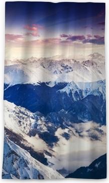 Rideau occultant Paysage montagne