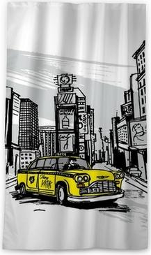 Sticker mural Taxi jaune de New York. • Pixers® - Nous vivons pour ...