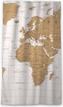 Rideau occultant Vecteur vintage carte du monde