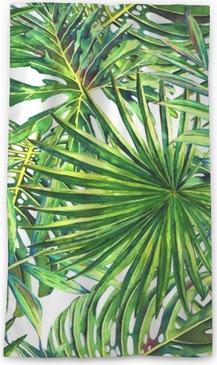 Rideaux Feuillage Tropical Elegant Vw Blanc Rideaux Avec Diviseur