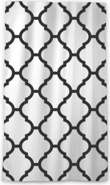 Rideau transparent Seamless moroccan en noir et blanc