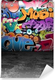 Samolepicí Fototapeta Graffiti stěna městské street art painting