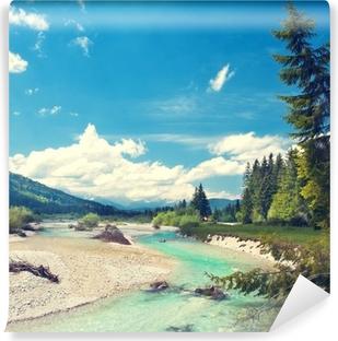 Samolepicí Fototapeta Isar fließt aus den Alpen