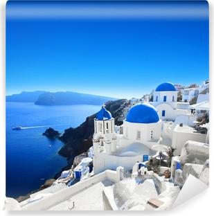 Samolepicí fototapeta Řecko - Santorini (Oia vesnice)