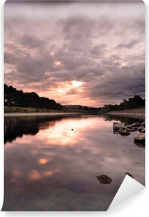 Samolepicí Fototapeta Tekoucí řeku během večera na Novém Zélandu