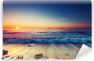 Samolepicí Fototapeta Východ slunce nad mořem