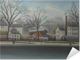 Samolepicí plakát Henri Rousseau - Suburban Scene