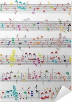 Samolepicí plakát Hudba poznámka zvuk textury