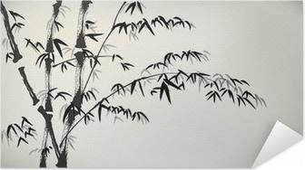 Samolepicí plakát Inkoust maloval bambus