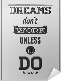 Samolepicí plakát Motivační plakát