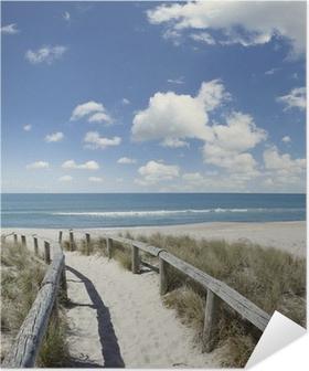 Samolepicí Plakát Pláž chodník