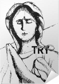 Samolepicí plakát Try