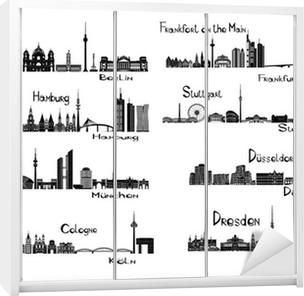 Schrankaufkleber 8 Städte in Deutschland