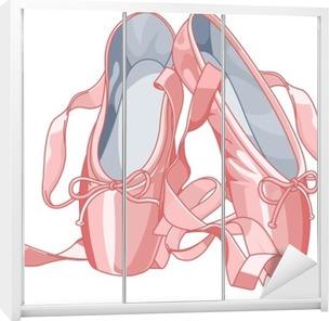 Schrankaufkleber Ballettschuhe
