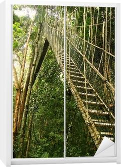 Schrankaufkleber Canopy Walkway, Taman Negara National Park, Malaysia