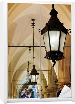 Schrankaufkleber Gotischen Arkaden bei Nacht
