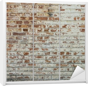 Schrankaufkleber Hintergrund der alten Vintage schmutzigen Mauer mit Peeling Gips