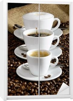 Schrankaufkleber Kaffee