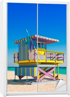 Schrankaufkleber Lifeguard Tower in South Beach, Miami Beach, Florida