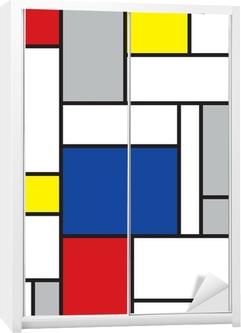 Schrankaufkleber Mondrian inspirierten Kunstwerke