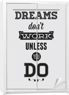 Schrankaufkleber Motivation Poster