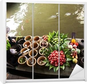 Schrankaufkleber Schwimmender Markt, Thailand