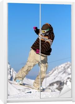 Schrankaufkleber Snowboard