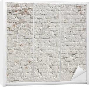 Schrankaufkleber Weiß Grunge Mauer Hintergrund