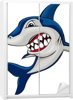 Schrankaufkleber Wütend shark