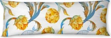 Seitenschläferkissen Aquarell Jugendstil Artischocke Muster