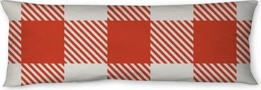 Seitenschläferkissen Nahtlose roten und weißen Tischdecke Vektor-Muster.