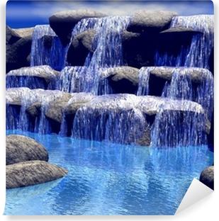 Selbstklebende Fototapete 3d Wasserfall